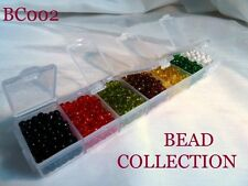 PRETTY SEED BEAD COLLECTION IN STORAGE BOX - TRANSPARENT - SIZE 6..........BC002