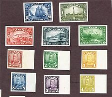CANADA 149-159 PROOFS INCL #158 BLUENOSE XF RIBBED INDIA PAPER (FAY27