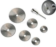 7pc 22-50mm Circular Saw Cut Cutting Blade Dremel Drill Bit Rotary Router Tool