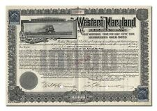 Western Maryland Railroad Company Bond Certificate, Issued to John D Rockefeller