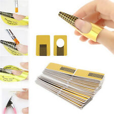 100pcs Acrylic UV Gel Nail Art Tool Extension Forms Guide Stickers French DIY