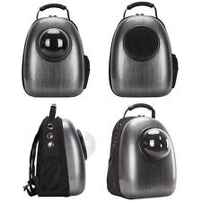 Astronaut Capsule Pet Backpack Dog Cat Pet Breathable Safety Carrier Bag Black