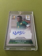 2014 Panini Prizm FIFA World Cup Brazil  SAMUEL ETO`O -Auto Autograph Signature