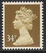 GB 1985 sg X920 34p Ochre-Brown 2 bands Times booklet stamp MNH