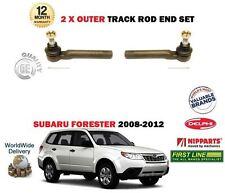 PER SUBARU FORSTER 2008-2012 NUOVO 2x ESTERNO STERZO RACK TESTA TIRANTE