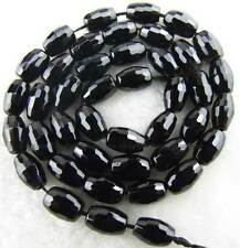6x9mm Rice Faceted Natural Onyx square Gemstone Beads 15""