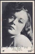 JANE WYMAN 03 ATTRICE ACTRESS CINEMA MOVIE STAR PEOPLE Cartolina Ediz. ELAH n° 4