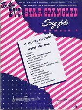 The New BVC Star Spangled Song 1947, vintage sheet music