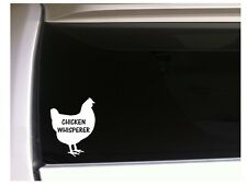 "Chicken Whisperer sticker vinyl car decal 6"" *P10 farm chicken pet Eggs"