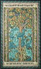 TREE OF LIFE TAPESTRY * GREEN William Morris Woodpecker Fruit Leave WALL HANGING