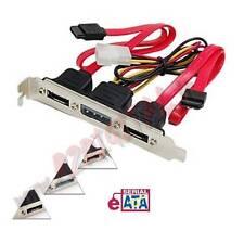 SCHEDA PCI da SATA a 2 x ESATA con ALIMENTAZIONE MOLEX 4 PIN ADATTATORE STAFFA