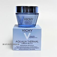 VICHY AQUALIA THERMAL RICH CREAM HYDRATION MOISTURIZER -dry skin- 50ml EXP 08/19