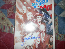 1984 WORLD SERIES PROGRAM JACK MORRIS AUTOGRAPH Detroit Tigers Baseball Auto AD