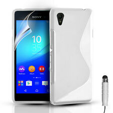 S-LINE SILICONE GEL CASE COVER & FREE SCREEN PROTECTOR FOR SONY EXPERIA M4 AQUA