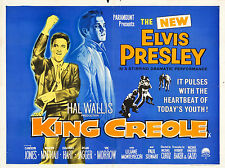 "King Creole Elvis 16"" x 12"" Reproduction Movie Poster Photograph"