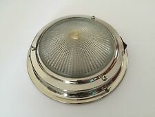 Ceiling light 12V Interior Stainless Steel 140MM Base Boat/Caravan/Horseboxes