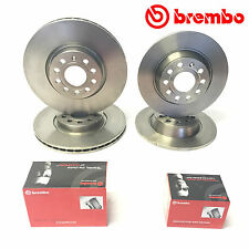 Vw Golf MK5 2.0 GT TDI 140 Front Rear Brembo Brake Discs And Pads 288/253mm