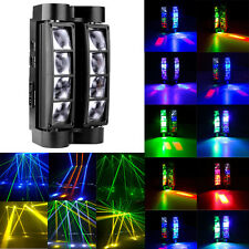 RGBW 8x10W LED Spider Beam Moving Head Stage Lighting DMX DJ Disco Lights