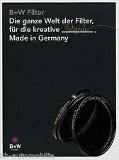 Prospekt Schneider B+W Filter 2014 brochure Fotofilter Polfilter Graufilter u.a.