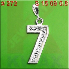 272 Number 7 Seven Charm Pendant Jewelry 925 Sterling Silver Necklace4