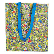Paradise Parrot Shoulder Shopping Tote Bag Strong Plastic Eco-Friendly Ladies