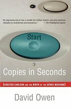 Copies in Seconds The Birth of the Xerox Photocopy Machine Photocopier New Book