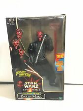 "Hasbro, Star Wars 12"" Electronic Talking Darth Maul, 1999 New In Box!!"