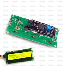 Yellow Display IIC/I2C/TWI/SP​​I Serial Interface 1602 16X2 Character LCD Module