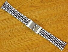 Jubilee Style Silver Tone 16mm-22mm Stainless Steel Metal Watch Bracelet Band