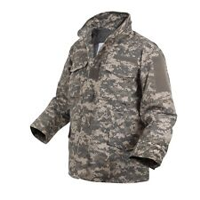 ACU digital all terrain camouflage M-65 style field jacket with liner Mens M NWT