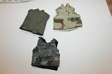 "1/6 scale mix vest  lot military for use with 12"" inch figure 1/6th"