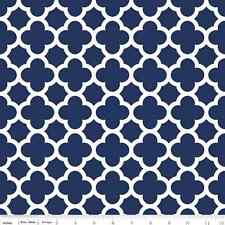 Quatrefoil Riley Blake Quilt Fabric by the  1/2 yd Navy