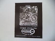 advertising Pubblicità 1976 REGINA CHAIN e MOTO GORI