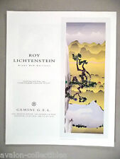 Roy Lichtenstein Art Gallery Exhibit PRINT AD - 1996 ~~ Landscape with Poet