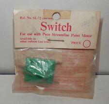 Peco Switch (for use with Peco Streamline Point Motor) #SL-72 NOS