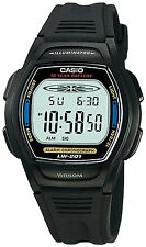 Casio Women's LW201-2AV Black Resin Quartz Watch with Digital Dial
