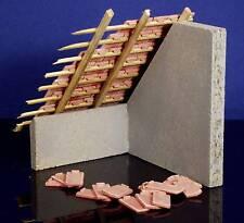 100 Keramik Biberschwanz Dachziegel, ziegelrot 1:18 mit Verlegenase