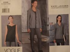 97 VOGUE Am Designer MARC JACOBS 2068 Jacket Top Skirt Pants PATTERN 8-10-12 UC