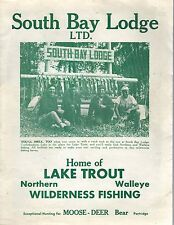 1960's South Bay Lodge Brochure Booklet Ontario Canada green