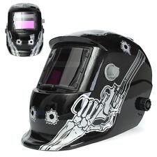 Solar Power Skull Welder Mask Auto Darken TIG MIG Electronic Welding Helmet