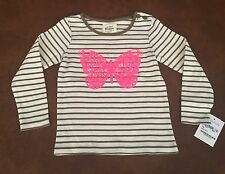 Mini Boden Striped Butterfly Long Sleeve Shirt For 1.5 To 2 Years Old Girl