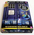 Dr Who 11 ELEVEN DOCTORS Mini Micro Figure Box SET TARDIS case NEW - UK seller
