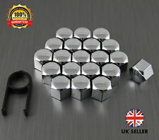 20 Car Bolts Alloy Wheel Nuts Covers 17mm Chrome For  Abarth Punto Evo