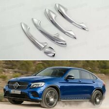5x Chrome Outer Side Car Door Handle Cover Trim for Mercedes Benz GLC Coupe 2017