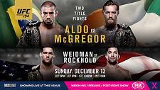 CONOR MCGREGOR v JOSE ALDO UFC 194 MMA AUSTRALIAN FOX TV PROMO FIGHT POSTER