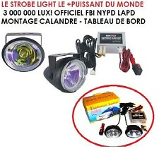 PROMO! LE PLUS GROS STROBE LIGHT DU MONDE VISIBLE 3KM! MOTO 4X4 PACE CAR SCOOTER