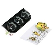 "2"" 52mm LED Car Motorcycle Oil Pressure/Water Temp Gauge Sensor Voltmeter Y6E6"