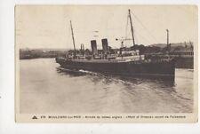 Boulogne Sur Mer Arrivee du Bateau Anglais Maid Of Orleans 1937 Postcard 879a