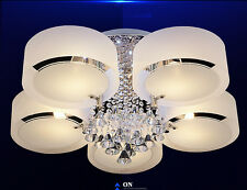 * Diameter 75CM Crystal White 5 Lights Lamp Chandlier Ceiling Fixture Lighting