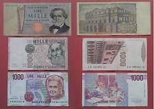 Lotto di 3 Banconote da 1000 Lire Verdi Marco Polo Montessori SPL